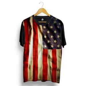 Camiseta BSC USA Full Print - Preto