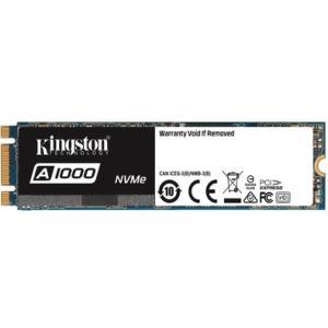 SSD Kingston A1000 M.2 2280 480GB PCIe NVMe Ger 3.0 x 2 Leituras: 1.500MB/s e Gravações: 900MB/s - SA1000M8/480G