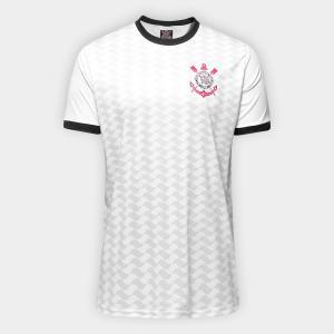 Camisa Corinthians Libertados Masculina - Branco P e GG
