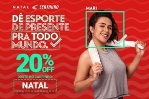 CENTAURO - DESCONTO DE 20% EM PRODUTOS SELECIONADOS