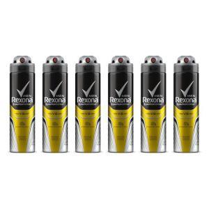 Kit Desodorante Rexona Men V8 48 horas Aerosol Masculino 150ml com 6 unidades