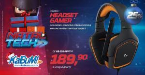 Headset Logitech G231 Prodigy | R$ 189,90 | KABUM