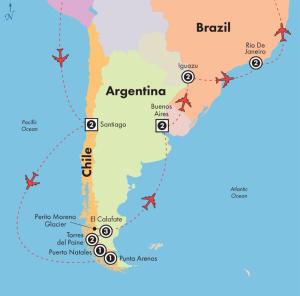 Voos para Buenos Aires e Santiago, na mesma viagem, saindo de São Paulo. Todos os trechos com taxas incluídas, por R$1.028