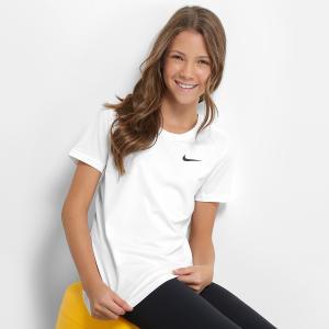 Camiseta Infantil Nike G Np Cl Top - Branco e Preto - R$35