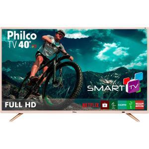 "Smart TV LED 40"" Philco PTV40E21DSWNC Full HD com Conversor Digital 2 HDMI 2 USB Wi-Fi 60Hz - Champagne"