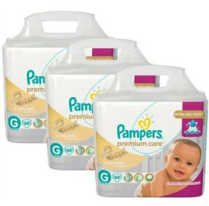Fralda Pampers Premium Care 204 unidades - 109,95 com AME