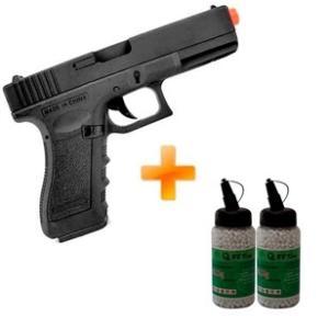 Pistola Airsoft AEP Glock 18C CM.030 Cyma + 4.000 BBs R$646