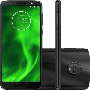 "Moto G6 64GB Dual Chip Android Oreo - 8.0 Tela 5.7"" Octa-Core 1.8 GHz 4G Câmera 12 + 5MP (Dual Traseira) - Preto | R$989"