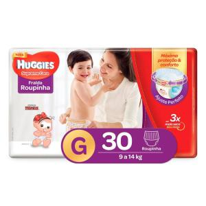Fralda Huggies Turma da Mônica Roupinha Supreme Care Tamanho G - 30 Unidades - R$21