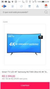 "Tv Samsung 4k CURVEE 49"""