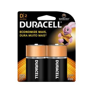 Pilha Duracell Alcalina Grande D 2 unidades por R$ 11