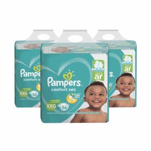 Fralda Pampers Confort Sec Bag XXG C/56 [3 unidades] R$164