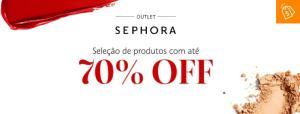 Até 70%OFF em seleção de produtos Sephora pagando com Visa