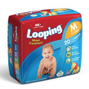 Fralda Descartável Looping Maxi Confort Prática M 20 Unidades
