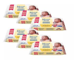 Kit Johnsons Baby Toalhinhas Com 576 Unidades - R$79
