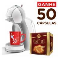 Nescafé Dolce Gusto Mini Me 110V + Mug Nescafé + 50 Capsulas + Mini Panetone   R$290