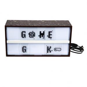 Caixa de luz letreiro - game geek - Luminária | R$80