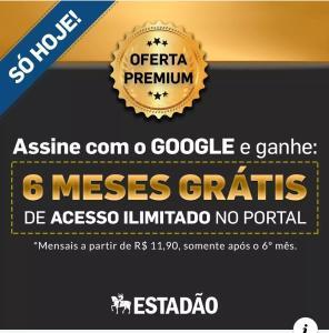 Assinatura Jornal Estadão - Os primeiros 6 meses grátis.