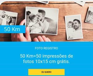 50 fotos Grátis* na foto registro com Cupom Km de vantagens