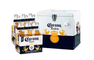 Kit Cooler Corona + 2 Packs de Corona 355 mL (12 garrafas)