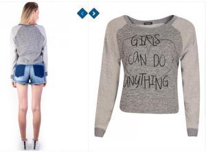 """Blusa """"Garotas podem fazer qualquer coisa"""""""