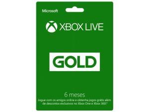 Cartão Microsoft Xbox Live Gold 6 meses - para Xbox One e Xbox 360 por R$ 50