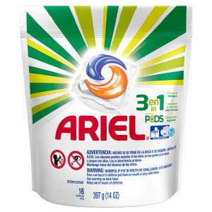 Lava Roupas Líquido ARIEL Pods Pacote 397g com 16 Cápsulas por R$ 10