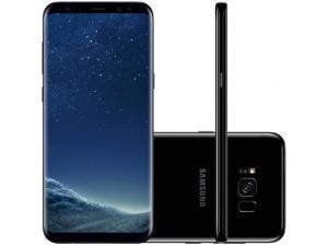 "Smartphone Samsung Galaxy S8+ 64GB Preto Dual Chip - 4G Câm. 12MP + Selfie 8MP Tela 6.2"" Quad HD por R$ 1999"