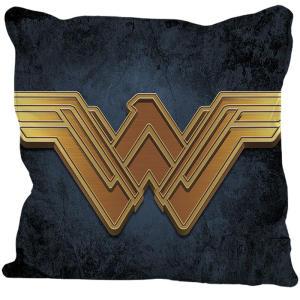 Capa de almofada Logo Mulher Maravilha 45x45cm Urban Azul | R$29
