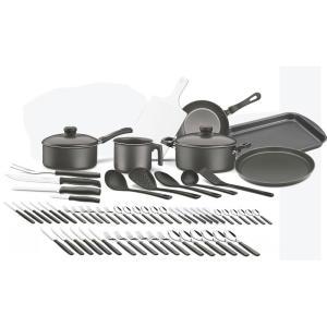 Kit Cozinha 64 peças - Tramontina - Grafite | R$253