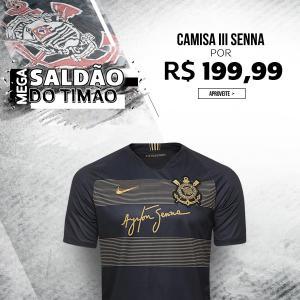 70602e55d3 Camisa Corinthians III 2018 s n° - Torcedor Nike Masculina - Preto e Dourado