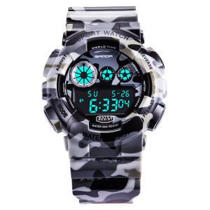 SANDA 289 Digital Assistir Camouflage Style Military Waterproof Men Esporte Relógio de pulso - R$39
