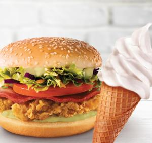 Sanduíche Double Crunch + 1 casquinha no KFC - R$8