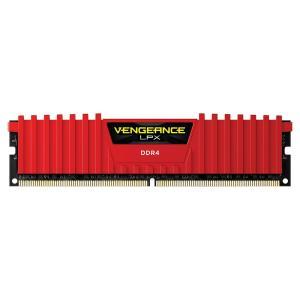 Memória Corsair Vengeance LPX 8GB 2400Mhz DDR4 C16 Red - CMK8GX4M1A2400C16R - R$329