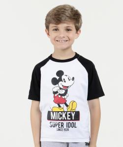 Camiseta Infantil Estampa Mickey Manga Curta Disney | R$14