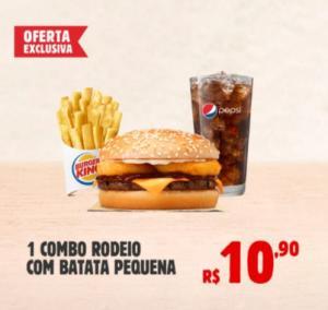 [Burguer King] Combo Rodeio + Batata P + Free refil - R$10,90