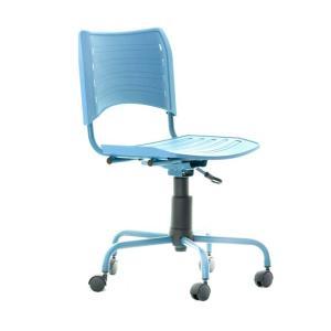 Cadeira de Escritório Secretária Giratória Evidence Color Azul | R$150,47
