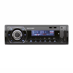 MP3 Player Automotivo Multilaser Talk P3214 Bluetooth 1 Din USB SD AUX MP3 WMA FM 4x45 WRMS