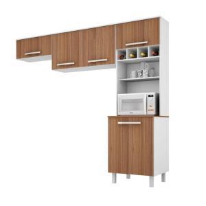 Cozinha Compacta Lorena 5 PT Branco e Montana - R$ 260