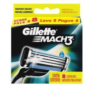 Carga Regular Gillette Mach3 L8P6 - 8 unidades - R$30
