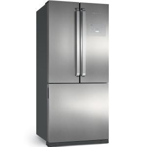 Geladeira Brastemp Frost Free Side Inverse 540 litros cor Inox com Ice Maker - BRO80AK - R$3687
