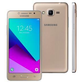 """Smartphone Samsung Galaxy J2 Prime Dourado com 16GB, Tela 5"""", Dual chip, 4G, Câmera 8MP, Android 6.0 por R$ 475"""