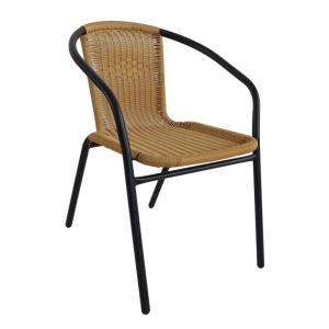 Cadeira Indaiá II Bege Rattan - marrom | R$59,49