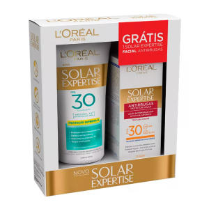 Protetor Solar L'oréal Solar Expertise Supreme Protect FPS 30 - 200ml + Solar Expertise Facial Antirrugas 25g - R$26