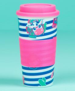 Copo Patches Infantil Azul e Rosa - Puket R$16
