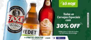 30% OFF - Cervejas especiais no Pão de Açúcar