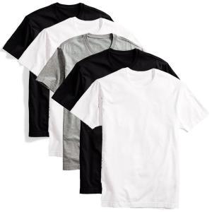 Kit 5 Camisetas Básicas Masculina T-Shirt Algodão Colors Tee - Preto e Branco | R$90
