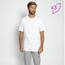 Kit De Camisetas Básicas - Branco - R$143