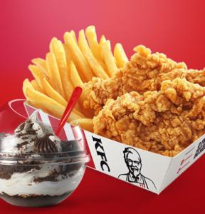 Snack Box + Kream Ball no KFC - R$13