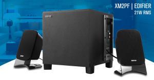 Caixa de Som com FM, USB e cartão SD EDIFIER XM2PF 21W RMS - Bivolt - R$284